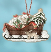 Mill Hill Sleigh Ride Charmed Ornaments Woodland Sleigh MH16-1735 Christmas Ornament counted cross stitch kit
