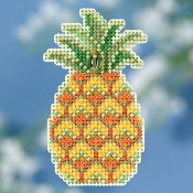 Mill Hill Spring Bouquet collection Pineapple counted cross stitch ornament kit