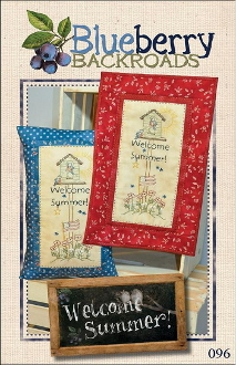Blueberry Backroads - Welcome Summer Hen Hand Embroidery Pattern