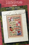 Lizzie Kate Christmas is Forever Counted cross stitch Pattern, linen and Threads