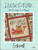 Lizzie Kate Snippet It's a jingle out there S90 Counted cross stitch pattern, chart
