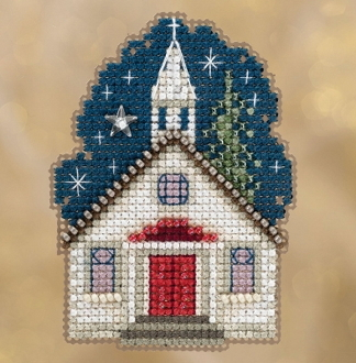 Mill Hill Winter Holiday collection Sunday Night MH18-1834 Ornament counted cross stitch kit with treasure
