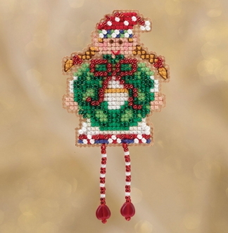 Mill Hill Winter Holiday collection Holli Elf MH18-1832 Ornament counted cross stitch kit with treasures