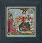 Mill Hill - The Stockings Were Hung MH17-1831 Christmas beaded counted cross stitch kit