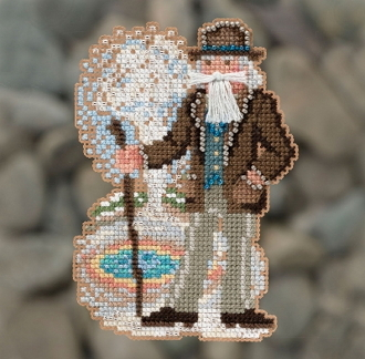 Mill Hill Yellowstone Santa MH20-1831 Christmas Ornament beaded counted cross stitch kit