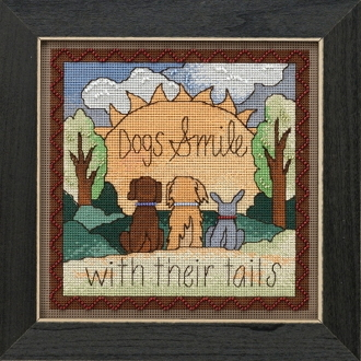 Mill Hill Sticks Dogs Smile beaded counted cross stitch kit