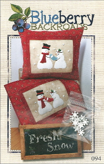 Blueberry Backroads - Fresh Snow Snowmen Hand Embroidery Patterns