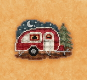 Mill Hill Autumn Harvest collection Happy Camper counted cross stitch ornament kit