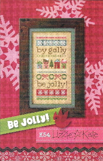 Lizzie Kate Be Jolly Counted cross stitch Pattern, linen and beads