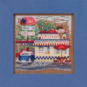 Mill Hill Spring Series Drive-In beaded counted cross stitch kit