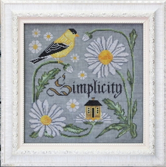 Cottage Garden Samplings There Is Beauty In Simplicity Counted cross stitch pattern chart