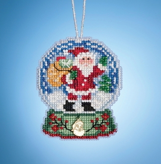 Mill Hill Santa Globe MH16-1931 Ornament counted cross stitch kit with Charm