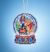 Mill Hill Toy Shop Globe MH16-1934 Ornament counted cross stitch kit with Charm