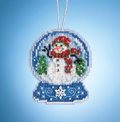 Mill Hill Snowman Globe MH16-1933 Ornament counted cross stitch kit with Charm
