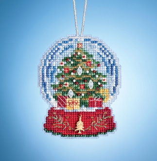 Mill Hill Christmas Tree Globe MH16-1936 Ornament counted cross stitch kit with Charm