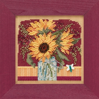 Mill Hill Autumn Series Sunflower Bouquet beaded counted cross stitch kit