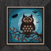 Mill Hill Autumn Series Midnight Owl beaded counted cross stitch kit