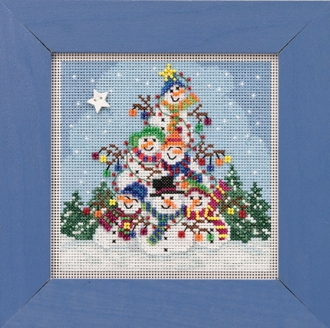 Mill Hill Winter Snowman Pile Counted cross stitch kit