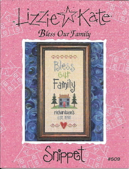 Lizzie Kate Snippet Bless Our Family counted cross stitch pattern