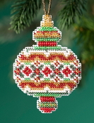 Mill Hill Beaded Holiday Ruby Diamond MH21-1913 Ornament counted cross stitch kit