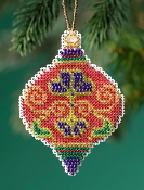 Mill Hill Beaded Holiday Crimson Cloisonne MH21-1916 Ornament counted cross stitch kit