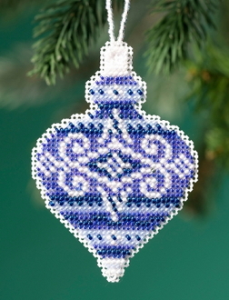 Mill Hill Beaded Holiday Sapphire Opal MH21-1915 Ornament counted cross stitch kit