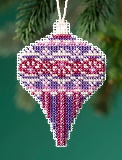 Mill Hill Beaded Holiday Amethyst Pearl MH21-1914 Ornament counted cross stitch kit