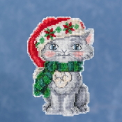 Jim Shore by Mill Hill - Kitty JS20-1912 Christmas Ornament beaded counted cross stitch kit