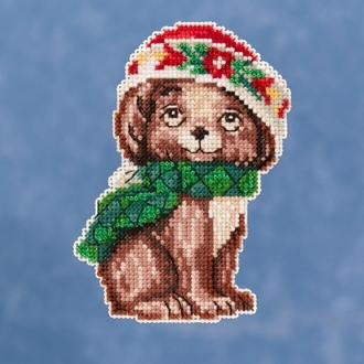 Jim Shore by Mill Hill - Puppy JS20-1915 Christmas Ornament beaded counted cross stitch kit