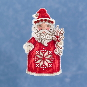 Jim Shore by Mill Hill - Nordic Santa JS20-1911 Christmas Ornament beaded counted cross stitch kit