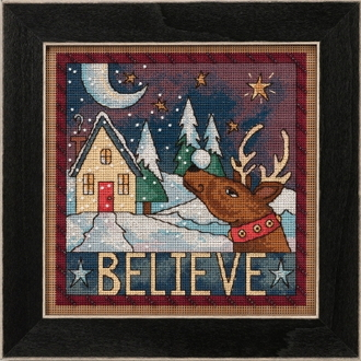 Mill Hill Sticks Believe beaded counted cross stitch kit