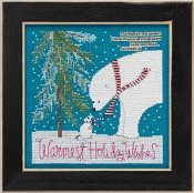 Mill Hill Curly Girl Design - Warmest Wishes beaded counted cross stitch kit