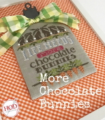 Hands On Design More Chocolate Bunnies Counted cross stitch pattern chart