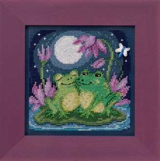 Mill Hill Spring Series Courtin Froggies beaded counted cross stitch kit