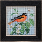 Mill Hill Spring Series Baltimore Oriole beaded counted cross stitch kit