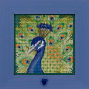 Mill Hill Spring Series Proud Peacock beaded counted cross stitch kit