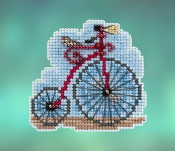 Mill Hill Spring Bouquet collection Vintage Bicycle counted cross stitch ornament kit