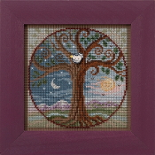 Mill Hill Autumn Series Tree of Life beaded counted cross stitch kit