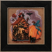 Mill Hill Autumn Series Haunted Lantern beaded counted cross stitch kit