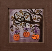 Mill Hill Autumn Series Pumpkin Tree beaded counted cross stitch kit