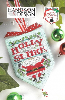 Hands On Design Holly St Nick Counted cross stitch pattern chart