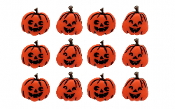 Dress It Up Buttons - Jack O Lanterns - Scrapbooking, crafts, sewing