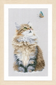 Lanarte counted cross stitch picture kit - Forest Cat