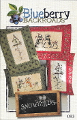 Blueberry Backroads - Snowbirds Snowmen Hand Embroidery Patterns