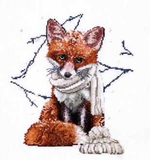 Thea Gouverneur Hey Foxy Lady counted cross stitch picture kit