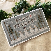 Country Cottage Needleworks Snow Village Banner Counted cross stitch pattern chart