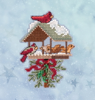 Mill Hill Winter Holiday collection Winter Feast MH18-2032 Ornament counted cross stitch kit with treasure