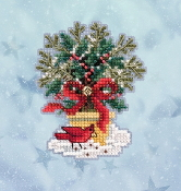 Mill Hill Winter Holiday collection Evergreen Topiary MH18-2035 Ornament counted cross stitch kit