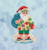Mill Hill Winter Holiday collection Santa Cruise MH18-2034 Ornament counted cross stitch kit