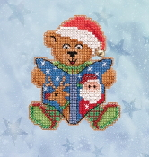 Mill Hill Winter Holiday collection Teddys Tale MH18-2036 Ornament counted cross stitch kit
